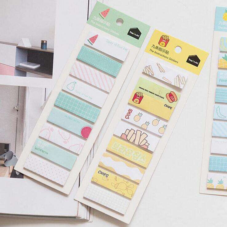 Creative Bookmark Message Colorful Self-Adhesive Memo Pad Sticky Notes Sticker Label Escolar Papelaria School Office Supply kicute 70sheets pack self adhesive blank label paper price sticker stationery mark sticker for office stores libraries supplies