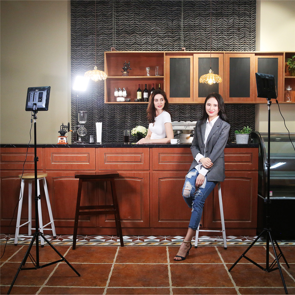 VILTROX VL 200T 12.4 ''caméra Photo à distance sans fil vidéo Studio lumière LED bi couleur réglable + adaptateur d'alimentation cc pour Canon Nikon - 3