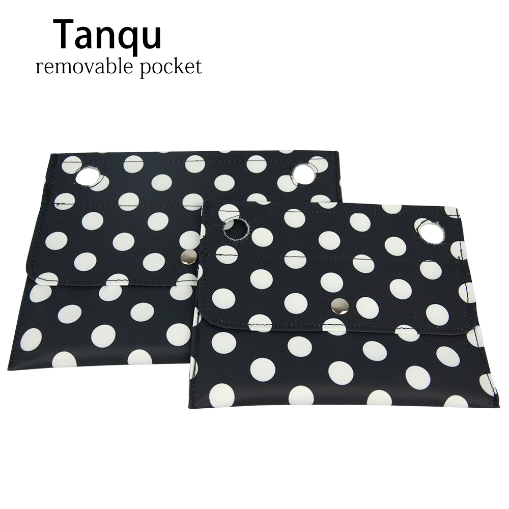 2019 Tanqu New Colorful Twill Fabric Inner Small Pocket For Classic Mini Obag For O Bag Inner Outside For O 50 Bag