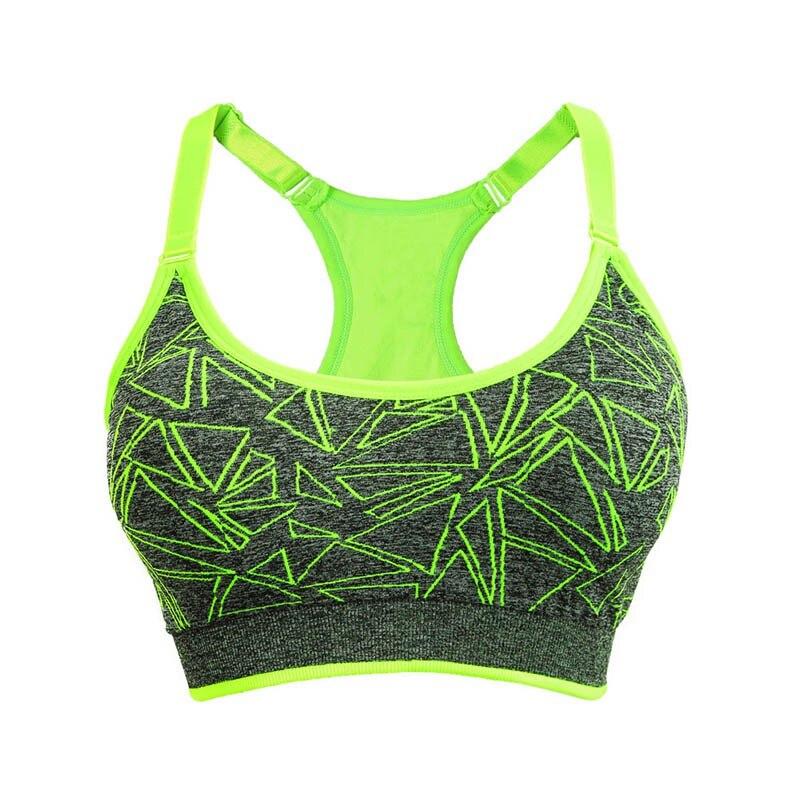 Women Fitness Yoga Sports Bra Lady BreathableRunning Gym Adjustable Spaghetti St