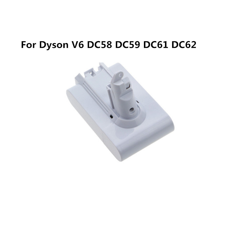 white 21.6V 3000mAh Li-ion Replacement Battery for Dyson V6, DC58, DC59, DC61, DC62 Animal, DC72 high quality for dyson dys 21 6v 3000mah 3 0ah v6 li ion electrical tools lithium battery dc59 dc62 dc72 965874 02 dc74