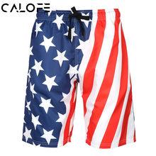 551b1bc87be4a CALOFE Shorts Men Summer Elastic High Waist Casual Beach Shorts Loose Print  Short Pants Men Quick Dry Sportwear Fitness Shorts