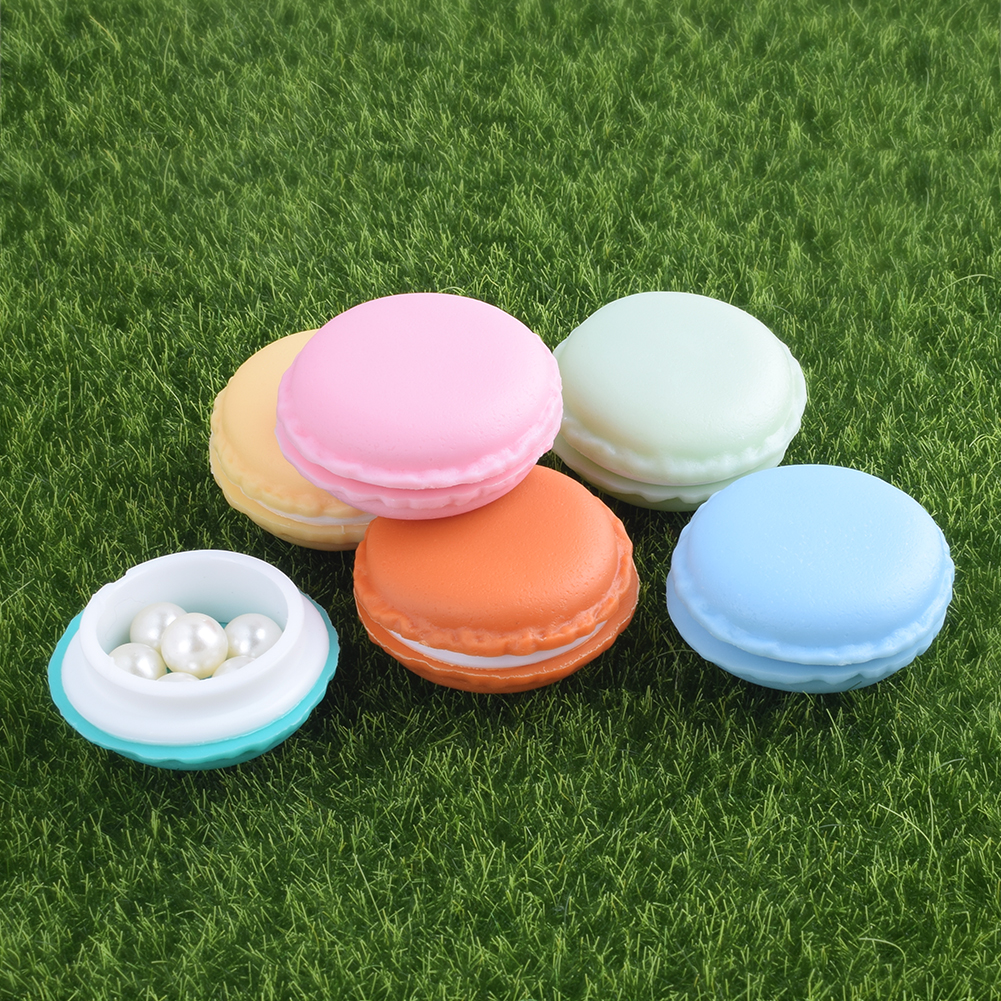 12 Pcs Colorful PP + TPE Mixed Macaron Case Box Jewelry Earrings Earphone Ear Studs Storage Case For Candy  Small Items Craft