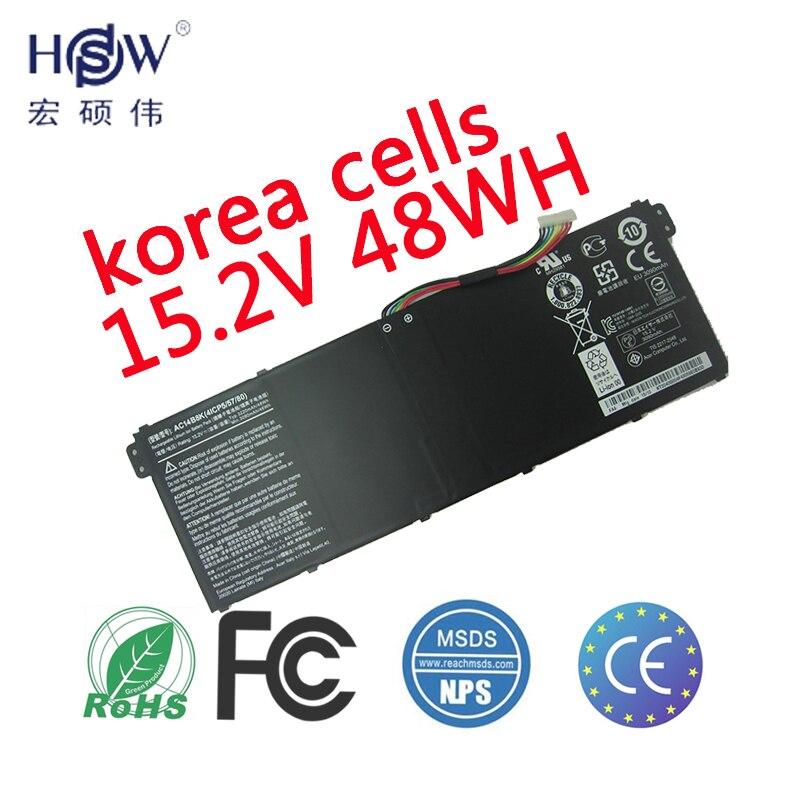 HSW Batterie D'ordinateur Portable POUR Acer TravelMate AC14B8K B115-M B115-MP batteries Chromebook 13 batterie pour ordinateur portable CB5-311 batterie