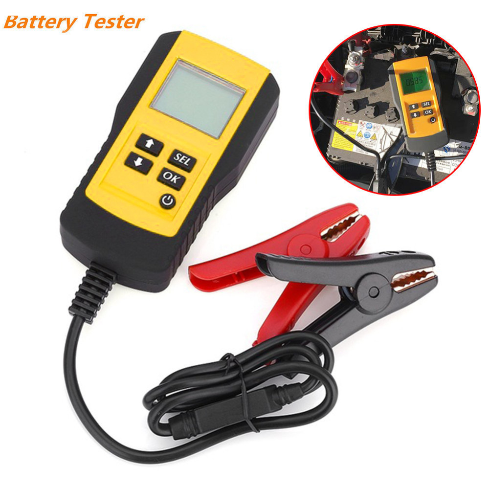 LCD Digital Car Battery Tester Vehicle 12V Car Battery Test Analyzer Auto System Analyzer Diagnostic Tool with Backlight motopower grey 12v smart digital battery tester voltmeter alternator analyzer with lcd and led display for car motorcycle boat