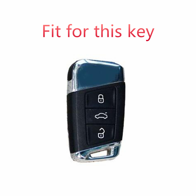 Image 2 - Soft TPU Protection Remote Key Full Cover Case For Skoda Superb A7 For Volkwagen Passat B8 VW Golf Gte Car Styling Accessorise-in Key Case for Car from Automobiles & Motorcycles
