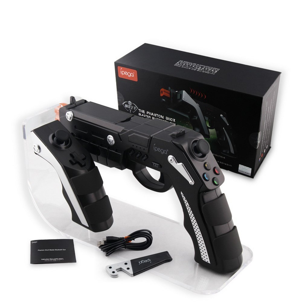 PG-9057 The Phantom shox Blaster Bluetooth Gun Controller Gamepad Wireless Shooting Game Console Joysticker Gaming Joypad Gamecu shooting equipment gun pistol adapter for motion controller ps3 move