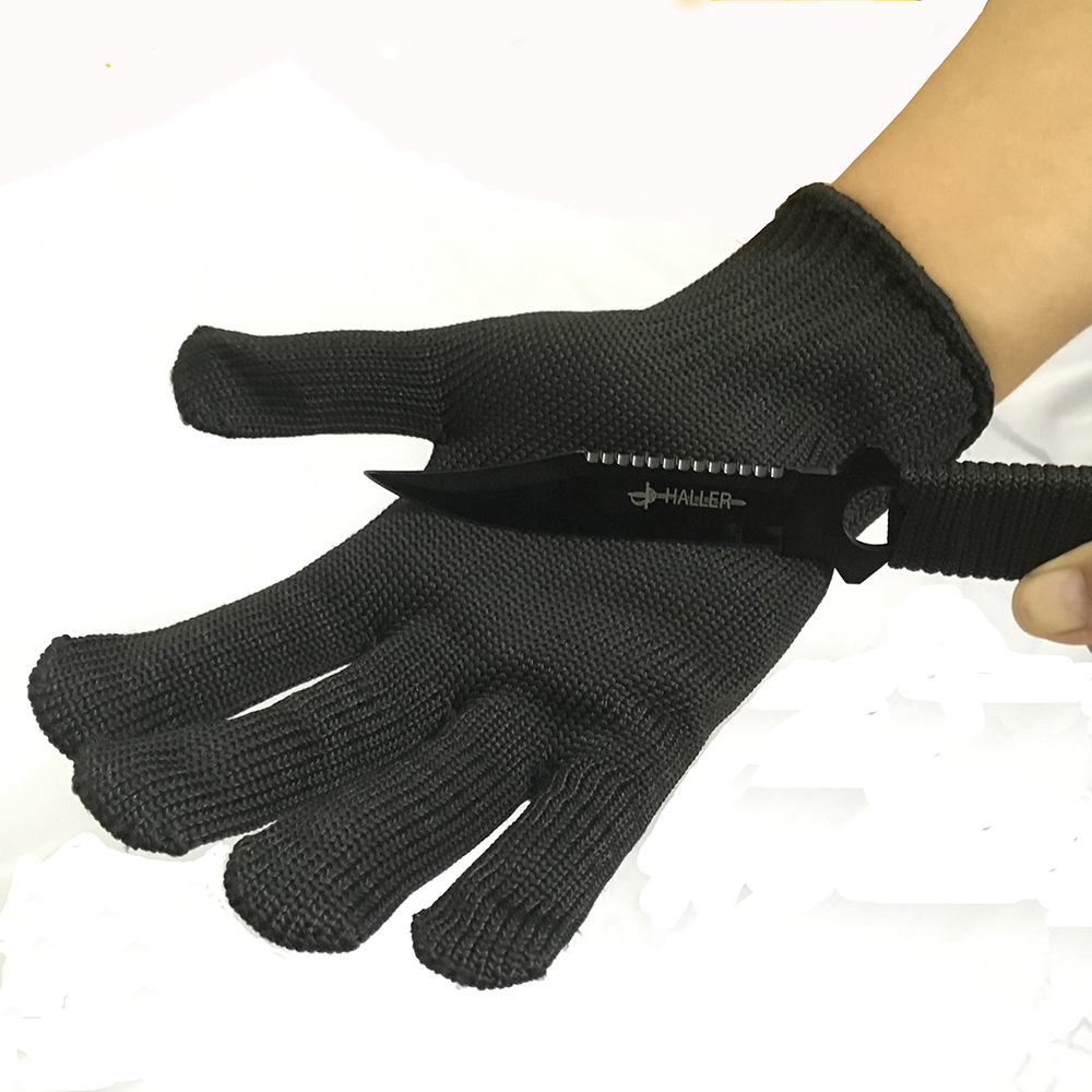 Brand New Safety Gloves Protect Stainless Steel Wire Gloves Cut Metal Mesh Butcher Anti-cutting Breathable Work Glove Level 5 top quality 304l stainless steel mesh knife cut resistant chain mail protective glove for kitchen butcher working safety