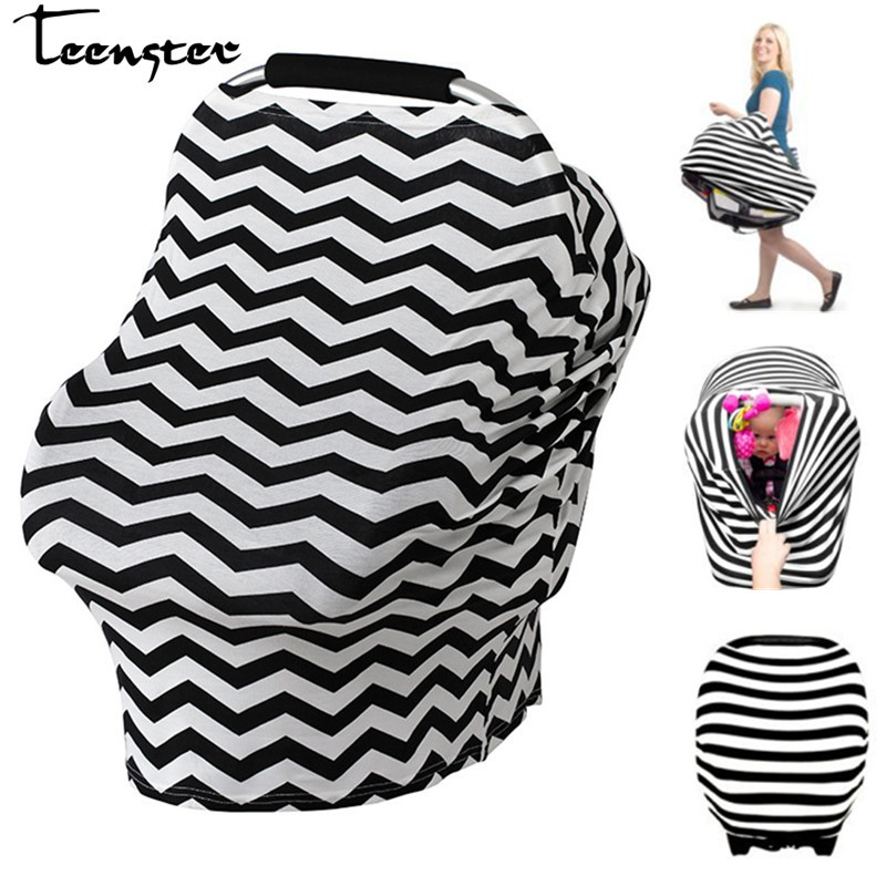 Teenster High Chair Covers for Babies Multifunctional Stretchy Car Seat Canopy Nursing Cov