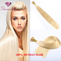 8A Indian Pre-Bonded I Tip Hair Extensions Straight Stick Keratin Human Hair Extention 100g(1g/strand) Light Blond #613 Cheapest