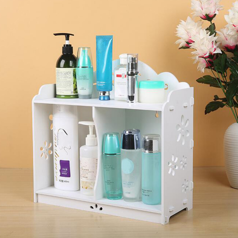 High Quality DIY Bathroom Bedroom Kitchen Storage Rack Holder Makeup ...