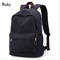 Vintage Fashion Rucksack Men's Canvas Backpack Casual Travel Backpack Teenagers Men Laptop Backpacks College Student School bag