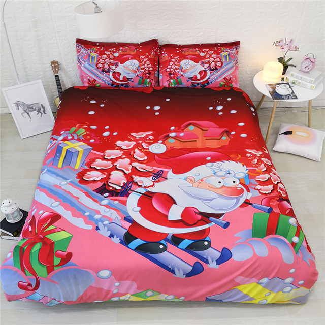 Hy Christmas Bedding Single Twin Double Full Queen King Cal Size Pillowcases Kids Duvet Cover