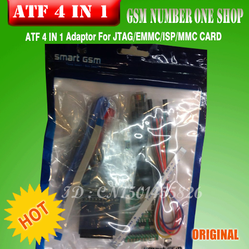 Free Shipping+100%original new ATF 4-in-1 JTAG / EMMC / ISP / MMC Card Adaptor + Free Shipping