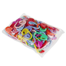 50pcs Plastic Markers Holder Needle Clip Craft Mix Mini Knitting Crochet Locking Stitch New