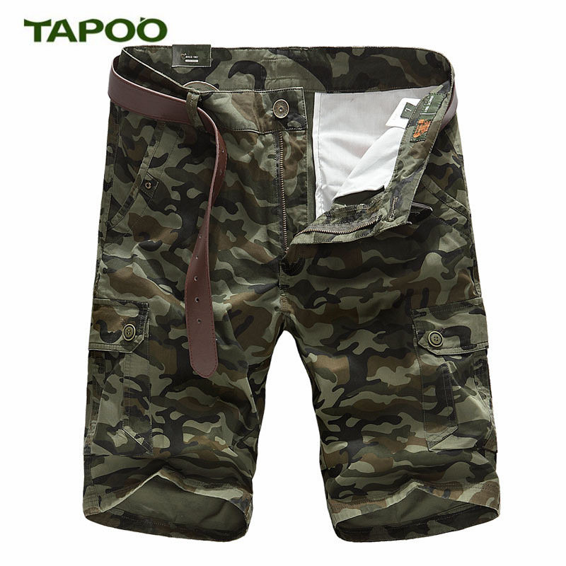 TAPOO Mens Casual Shorts Male Summer Shorts Large Size Thin Mens Multi-Pocket Overalls M ...
