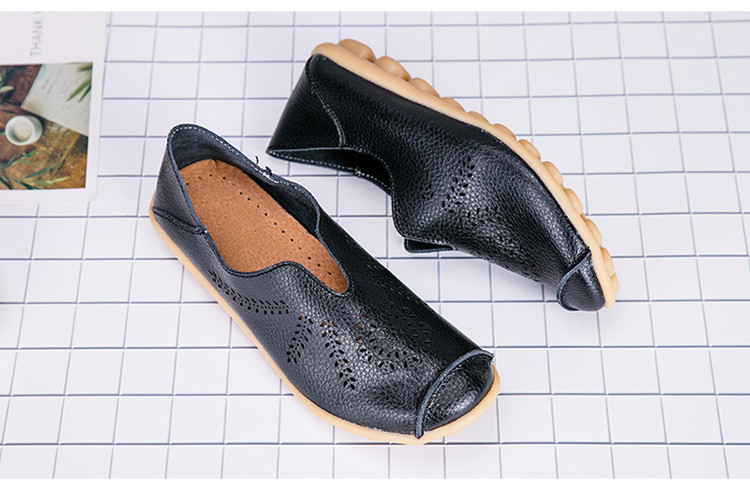 AH 1866-1-2019 Summer Women Loafers Genuine Leather Woman Shoes-6