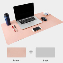 PU Leather Rollable Anti Scratch Large Soft Smooth Gaming Desktop Decorative Waterproof Mouse Pad Easy Clean Double Side