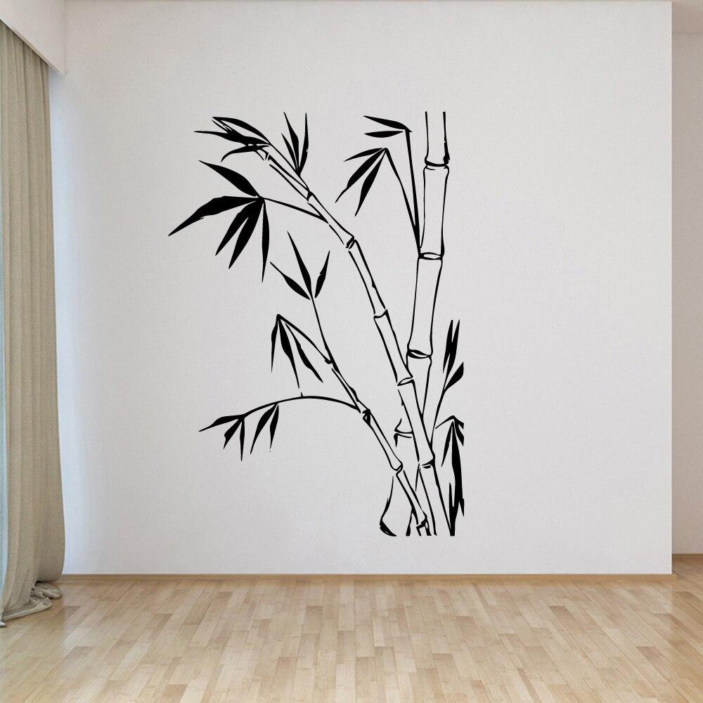 Изысканные бамбуковые экологически чистые виниловые наклейки, современный настенный Декор для детской комнаты, «сделай сам», украшение дл...