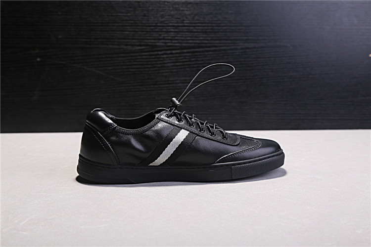 Black Genuine Leather Men Casual Shoes Round Toe Rubber Heel Flat - Men's Shoes - Photo 4