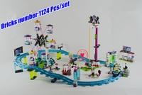 01008 fille Amis Parc D'attractions Montagnes Russes Blocs de Construction Briques Jouet 41130 compatieble legoes amis filles cadeau enfant jouet