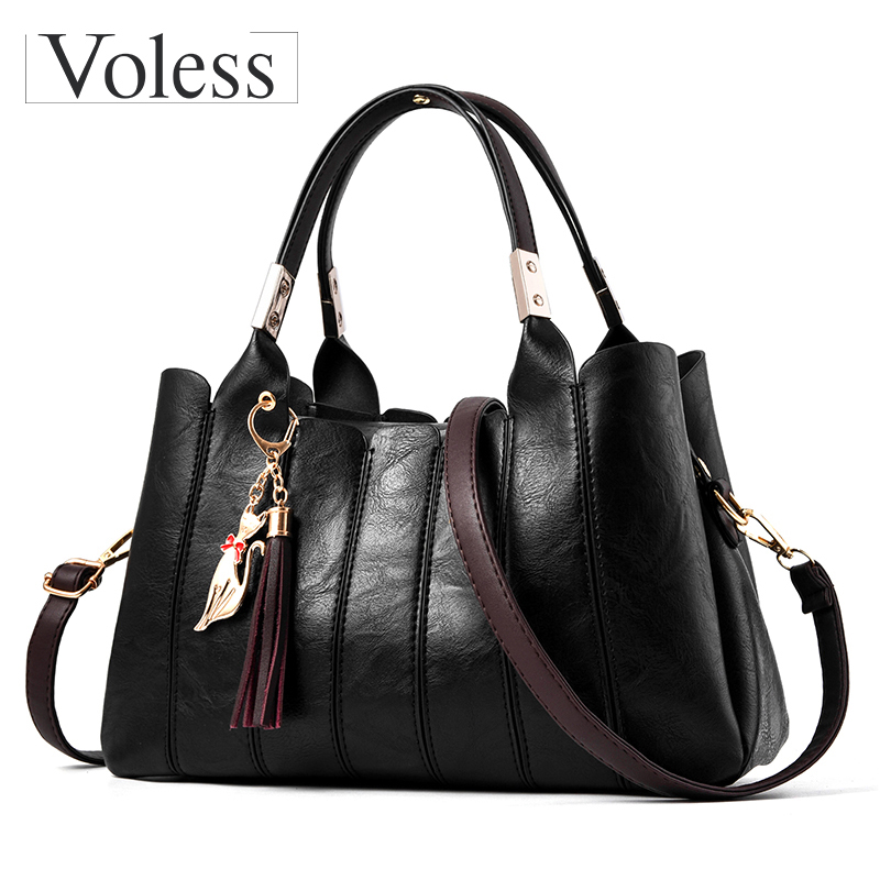 Fashion Tassel Designer Women Leather Handbags New Soild Crossbody Bags For Women Casual Tote Bag Women Messenger Bag Sac A Main vintage fashion women handbags leather shoulder bag women messenger bags brand designer tassel bags tote sac a main bolsas a0280