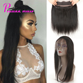 360 Lace Frontal With Bundle 8A Brazilian Virgin Hair Pre Plucked 360 frontal with Bundles Brazilian Straight Hair With Closure