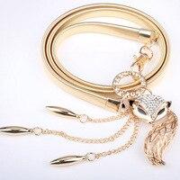 Fox Horse Waist Thin Chain Belt For Women Fashion All Match Elegant Young Girl Rhinestone Jewelry