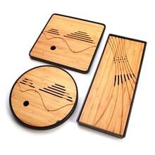 Klassische Kung Fu Tee-Set Einfache Tee-tablett Entwässerung Wasserspeicher Massivholz Teegeschirr Werkzeuge Chinesische Traditionelle Teekanne Accessorie