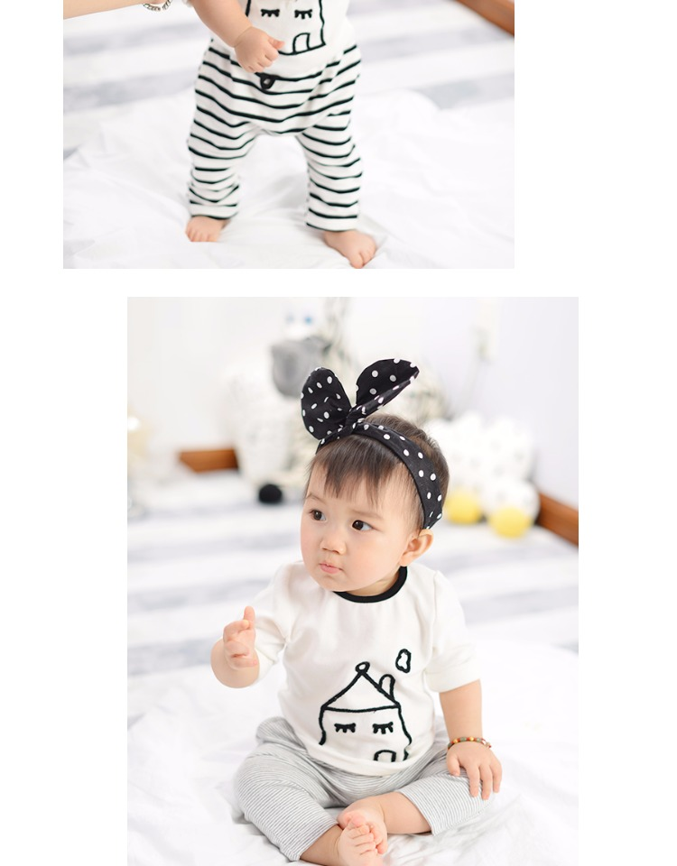 hot sale 2017 unisex baby kids cartoon house printed boys cotton T shirt children infant girl fashion spring white top cloth