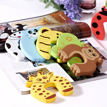 5pcs Kids child Baby Cartoon Animal Jammers Stop Edge Corner for crossover angles of children Guards