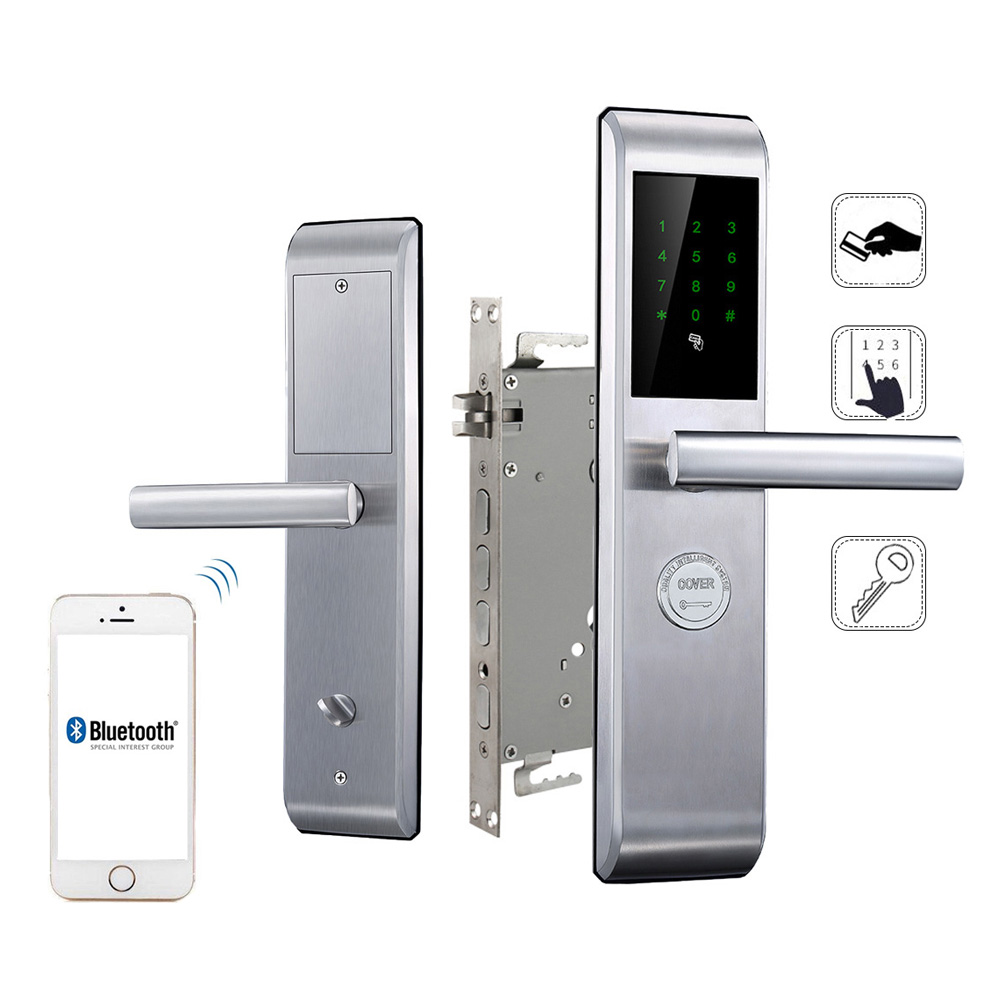 Smart Door Lock Keyless Lock Smartphone Security Door Lock Electronic Digital Card Touch Screen Password Safe Lock Door smart door lock keyless lock smartphone security door lock electronic digital card touch screen password safe lock door