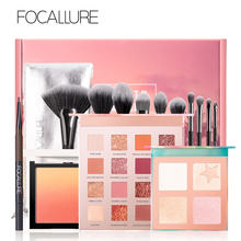 FOCALLURE Professional Makeup Set For Women include Eyeshadow Highlighter Palette Blush Brushes Cometics Set(China)