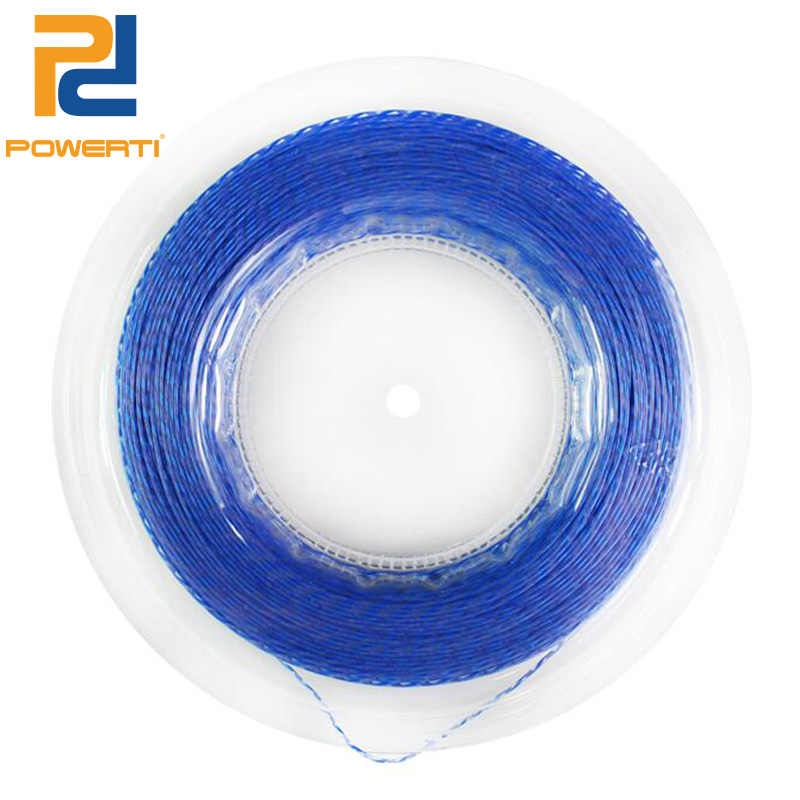 Powerti 1.30mm Nylon Wire Tennis String Diameter Gold Durable Tennis Racket Training Sport Strings 200m Reel zarsia 200m flash nylon tennis string 16g 1 35mm multifilamen tennis rackets string squash strings synthetic tennis strings