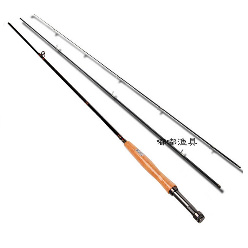 Fly Fishing Rod Carbon 3 Section 2.7 #5/6 Meters Fly Fishing Rod Fly Fishing Suit Carp Pole Feeder Rod portable 5 section telescopic fishing rod pole 2 1m length