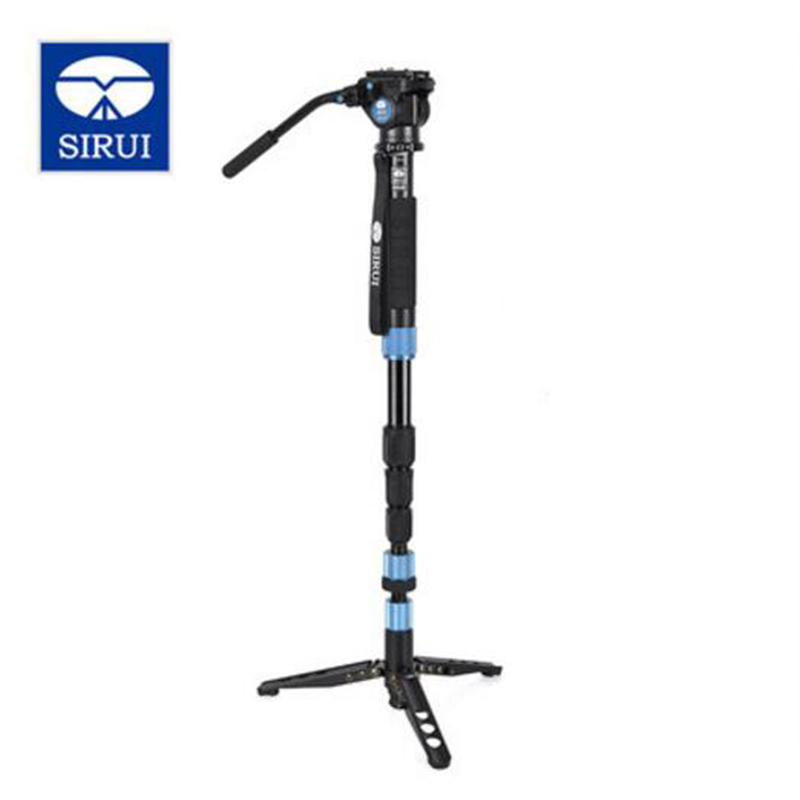 SIRUI P-204S+VA5 Aluminum Monopod Kit Professional Monopod+Stable Hydraulic Video Head Bird Watching Photography Set For DSLR tama lal1455 s l p aluminum 5 5 x14