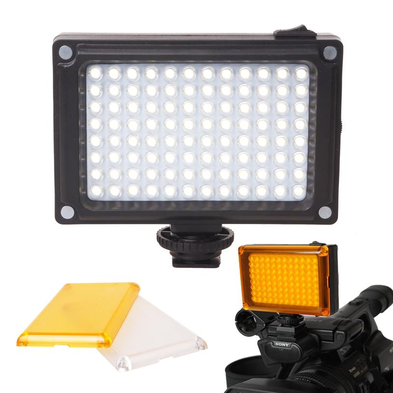 Mini LED Video Light Photo Lighting 96 beads on Camera Hot shoe Dimmable LED Lamp for Camcorder DV DSLR Youtube Shooting video