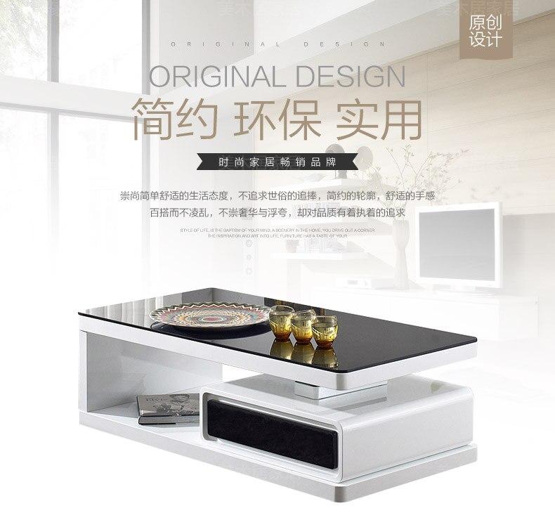Гостиная мебель журнальный столик минималистский современный стиль деревянный мез прямоугольный стол basse-де салон белый sehpalar табло