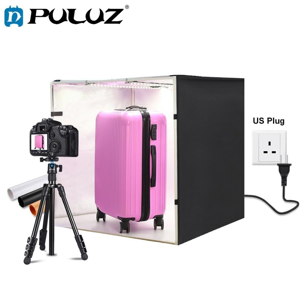 PULUZ 80cm lightbox Photo Studio Box Softbox 80W White Light Photo Lighting Studio Shooting Tent Box