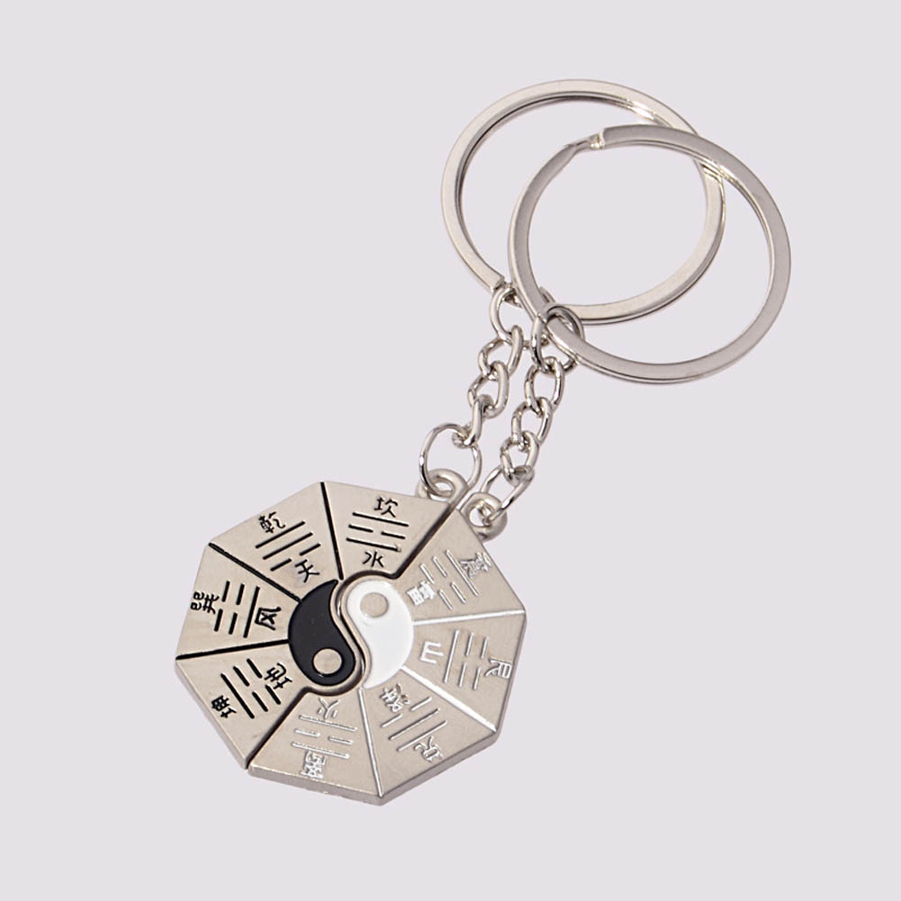 1 Pair Feng Shui Yin Yang Keychain Auspicious Amulets/Taoism Tai Chi Gossip Key Chains