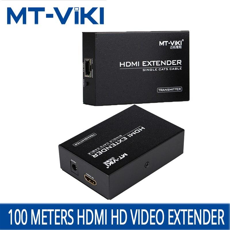 MT-VIKI HDMI Extender RJ45 cable connection extended transmission amplifier over CAT RJ45 LAN Cable 1.4 Extension Repeater ED06 hdmi extender rj45