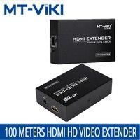 MT VIKI HDMI Extender RJ45 кабеля расширенный передачи усилитель над CAT RJ45 сетевой кабель 1,4 удлинитель трансляционный ED06