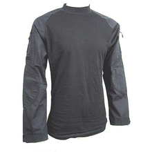 Wholesale- Black Tactical Polyester Long Sleeve Shirt Camping& Hiking clothing free shipping