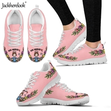 Jackherelook Woman Sports Shoes Nurse Printed Comfortable Athletic Footwear Lightweight Lace Up Running Sneakers Lady Students