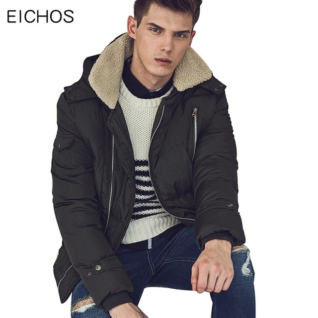 Online Shop EICHOS Brand Top 2017 Winter Padded Parka Jackets Men ...