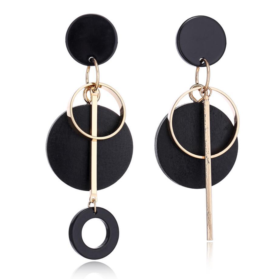 Fashion Women Earring Circle Wood Geometric Dangle Drop Earrings Jewelry Gifts