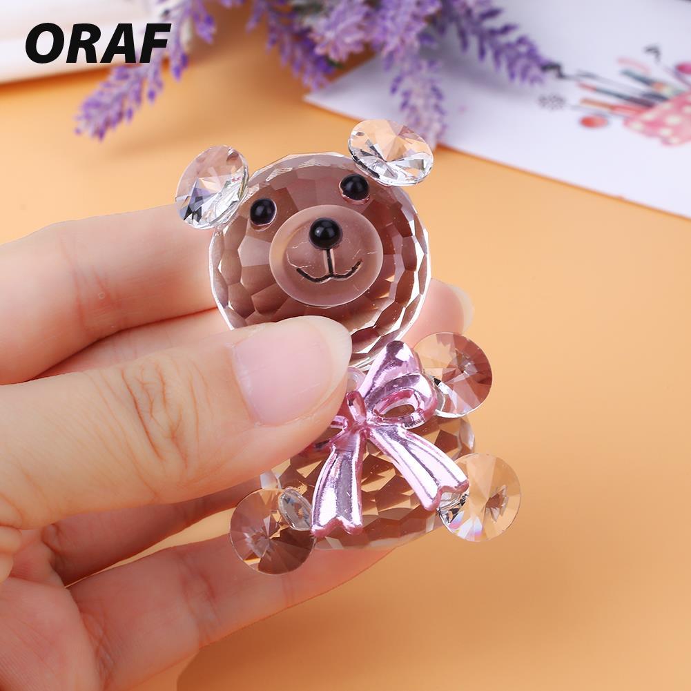 Статуэтки, украшение из стекла, креативный хрустальный декор, праздничная опора, милый медведь, коллекционные вещи, синие вечерние, подарок для дома, красивые животные