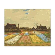 Digital oil painting itself handmade DIY decoration drawing room bedroom sofa background  Van Gogh Garden