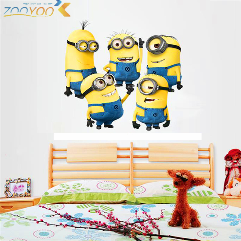 Decals, Stickers & Vinyl Art Active Despicable Me Minions 3d Window Scene Wall Decals Removable Stickers Kids Decor Home & Garden