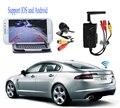 Carro Traseira vista Backup camera + Transmissor Wi-fi À Prova D' Água para o Carro/IOS para android phone pad monitores/para câmera de Vigilância